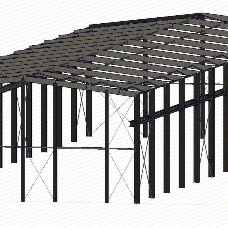 konstrukcja hali przemysłowej