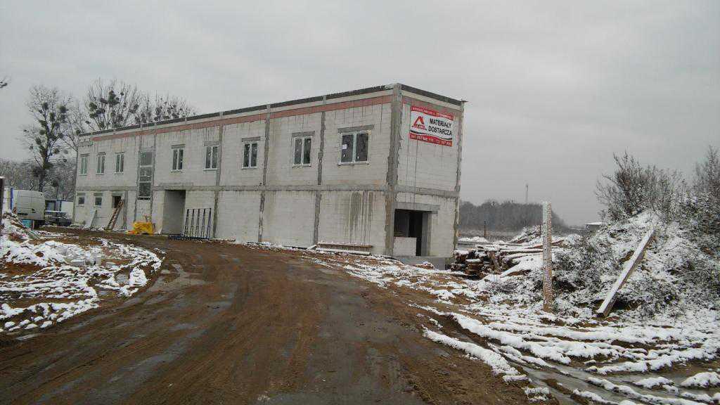 Widok ogólny na budynek biurowo - socjalny